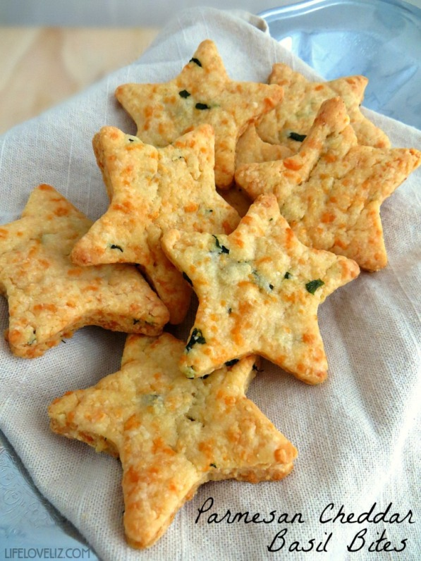 Parmesan-Cheddar-Basil-Bites
